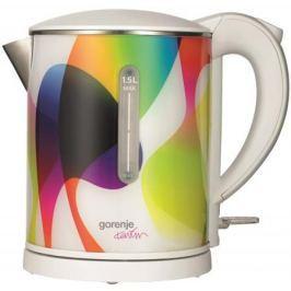 Чайник Gorenje K15KARIM 2200 Вт белый рисунок 1.5 л металл/пластик