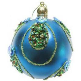 Набор шаров Новогодняя сказка 972918 8 см 3 шт голубой пластик