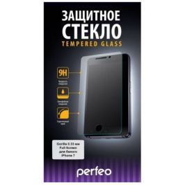 Защитное стекло Perfeo Full Screen Gorilla 78 для iPhone 7 0.33 мм PF-TG-FG-IPH7W