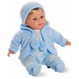 Arias ELEGANCE мягк кукла 42 см., в одежде, с соской, со звук. эфф. плач (3хLR44/AG13), голуб., в ко