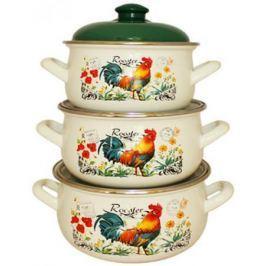 Набор посуды Interos 16366A Петушок