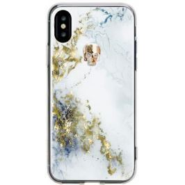 Накладка Bling My Thing Tresure Alabaster. Gold Skull, с кристаллами Swarovski для iPhone X рисунок
