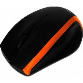 Мышь проводная Crown CMM-009 чёрный оранжевый USB
