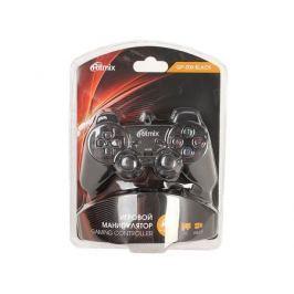 Геймпад RITMIX GP-005 Black для ПК, USB, 2 вибромотора, 16 кнопок, кабель 1,5м