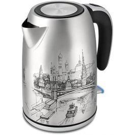 Чайник Polaris PWK 1856CA рисунок 2000Вт, 1.8л, нержавеющая сталь
