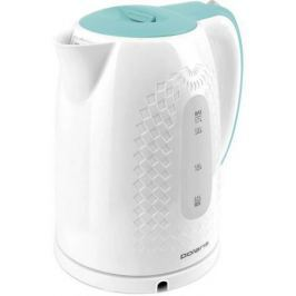 Чайник Polaris PWK 1713C белый/бирюзовый 2200 Вт, 1.7 л, пластик