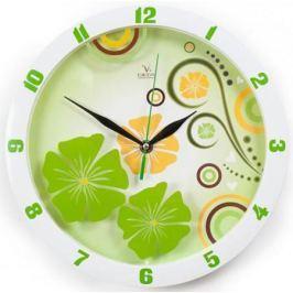 Часы Вега П1-7327/7-301 Зеленые узоры
