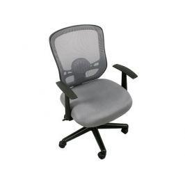 Кресло офисное COLLEGE HLC-0420-1C-1 серый ткань, сетчатый акрил, 120 кг, крестовина и подлокотники черный пластик. (ШxГxВ), см 65x63x94-104