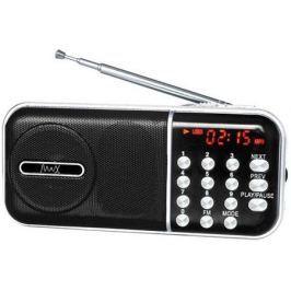 Радиоприемник MAX MR-321 Silver/Black micro SD / USB, AM/FM приёмник, LCD экран, воспроизведение до 6 часов, 5 Вт, встроенный сабвуфер