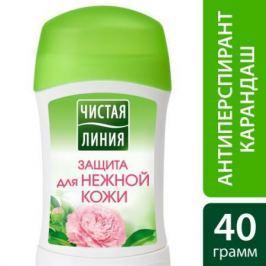 ЧИСТАЯ ЛИНИЯ Фитодезодорант Антиперспирант Защита карандаш для Нежной кожи RUBIK 40мл