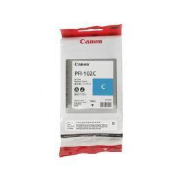 Картридж Canon PFI-102 C для плоттера iPF500, iPF510, iPF600, iPF605, iPF610, iPF650, iPF655, iPF700, iPF710, iPF720, iPF750, iPF755, iPF760, iPF765. Голубой.