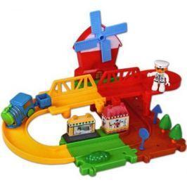 Железная дорога Голубая стрела Веселые горки, конструктор-пазл 87181