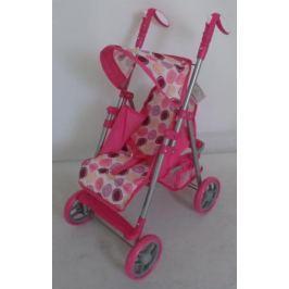 1toy коляска для кукол, премиум, мет.каркас, 53,5х34х68см, розов.