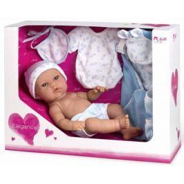 Arias ELEGANCE кукла винил. 33 см. с пинетками, одеяльцем, одеждой, голуб. цвет в корбке 37x13,50x28
