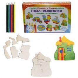 Развивающая игрушка: Пазл-раскраска