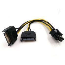 Переходник питания для PCI-Ex видеокарт 2 x SATA 15pin (M) - 8pin ORIENT C588