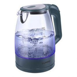 Чайник LUMME LU-138 серый жемчуг 2200 Вт, 2 л, стекло