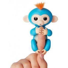 Интерактивная мягкая игрушка обезьянка БОРИС (синяя), 12см 3703A
