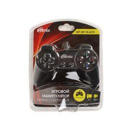 Геймпад RITMIX GP-001 Black для ПК, USB, 14 кнопок, кабель 1,5м