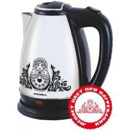 Чайник Росинка РОС 1003 2000 Вт 2 л нержавеющая сталь рисунок