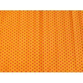 Креп-бумага Koh-I-Noor, оранжевая с красными точками, 2000х500 мм
