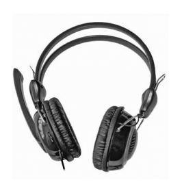 Гарнитура KREOLZ HS401, регулятор громкости на левом наушнике, оголовье, внешний поворотный микрофон, кожаные амбушюры, гибкая оплетка провода,