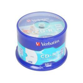 CD-R Verbatim 700Mb 52x 50шт Cake Box Full Ink Print