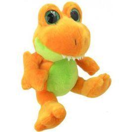 Мягкая игрушка динозавр Wild Planet Orbys - Динозавр Тирекс 20 см оранжевый зеленый искусственный ме