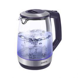 Чайник Marta MT-1095 темный топаз 2200 Вт, 2 л, стекло
