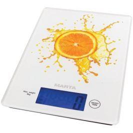 Весы кухонные Marta MT-1633 рисунок апельсиновый фреш