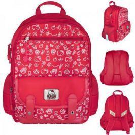 Рюкзак HELLO KITTY, разм.40х30х13 см, красный, уплотненная рельефная спинка, светоотраж. элементы,