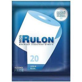 Влажная туалетная бумага Mon Rulon 20 шт ароматизированная не содержит спирта влажная гипоаллергенны