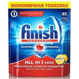 FINISH All in1 MAX Shine&Protect Средство для мытья посуды в посудомоечных машинах таблетки 65шт Лим