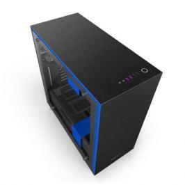 Корпус ATX NZXT H700i Без БП черный синий CA-H700W-BL