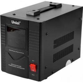Стабилизатор напряжения Uniel RS-1/2000 1 розетка черный 03110