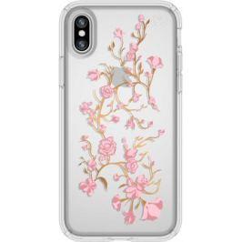 Накладка Speck Presidio Clear + Print Golden Blossoms Pink/Clear для iPhone X прозрачный 103136-5754