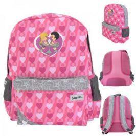 Рюкзак LOVE IS , разм.40 x 33 x 11 , рельефная спинка, светоот.элементы, розовый