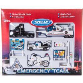 Игровой набор Welly Служба спасения - полиция 9 шт разноцветный 98630-9A