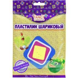 Шариковый пластилин FANCY CREATIVE 50гр,высыхает на воздухе, гермет. пакет с молнией, ассорти 6 цвет