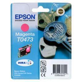 Картридж Epson Original T04734A (magenta) /для Stylus С63/