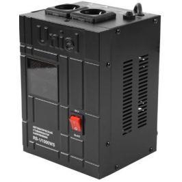 Стабилизатор напряжения Uniel RS-1/1000WS 2 розетки черный 07379