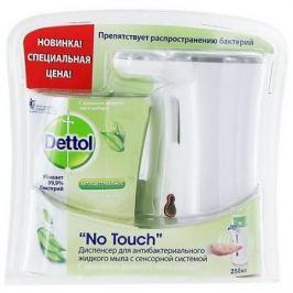DETTOL Диспенсер для антибакт.жидк. мыла д/рук в компл с ж/м с аромат. зеленого чая и имбиря с сенс