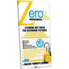 ZERO Салфетки влажные для сантехники 40 шт