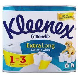 Бумага туалетная Kleenex Extra Long 4 шт растворяются в воде 2-ух слойная 9450045