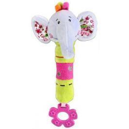 Пищалка-прорезыватель Жирафики Слонёнок Тим с 3 месяцев пищалка разноцветный