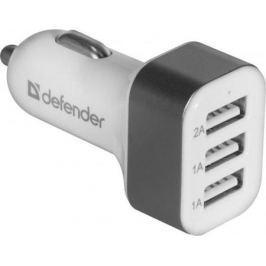 Автомобильное зарядное устройство Defender UCA-03 4A 3 x USB белый 83570