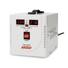Стабилизатор напряжения Powerman AVS-2000D 2 розетки белый