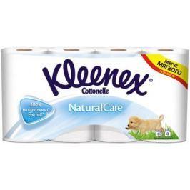 KLEENEX Туалетная бумага белая Натурал Кэйр трехслойная 8шт