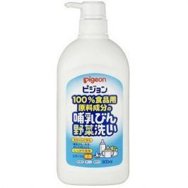 PIGEON Средство для мытья детской посуды и овощей дозатор 800мл
