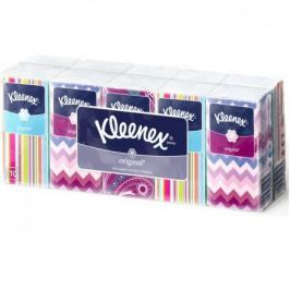 Платочки носовые Kleenex ORIGINAL 10 шт 3-ех слойная 9470110